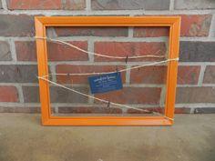 Rustic Memo Board / Orange Memo Board / Bulletin Board / Message Board / Picture Board / Event Decor / Office Decor / Home Decor by TheRusticWillow25 on Etsy https://www.etsy.com/listing/256117830/rustic-memo-board-orange-memo-board