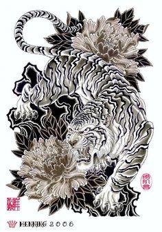 Tatuagens de tigre orientais - Japanese Tiger Tattoo 56