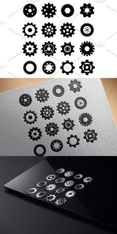 Gears Mechanic Machine Symbol Icon #illustration #wheel
