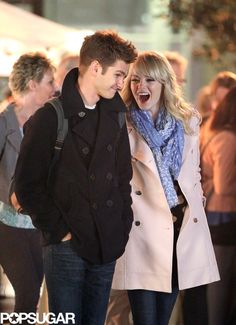 Emma Stone and Andrew Garfield look adorable on the Spider-Man set | More pics here!