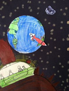 OUT OF THIS WORLD (K-5th) - Teaching Elementary Art 3rd grade space collage
