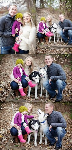 Great Photo Clothing.  Neutral mom and dad with bright on baby.