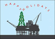 Dig up new business and refine your equation for record profits in the New Year when you send a personalized holiday greeting to clients using this petroleum engineer Christmas card.