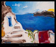 Santorini www.thepaintbar.com