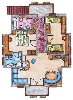 Nuestra casa está centrica,luminosa,moderna,tranquila. Nuestra casa es muy grande y confortable. El edificio tiene ascensor. El piso es de nueva costrucción y tiene tres habitaciones.