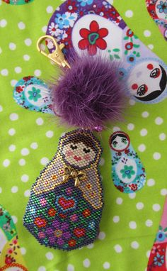 Matryoshka (Russian Doll) Charm Peyote/Brick Stitch PDF Pattern