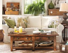 color palette, coffee table style, basket storage