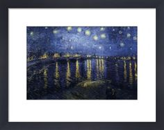 Starry Night Over the Rhone Vincent Van Gogh
