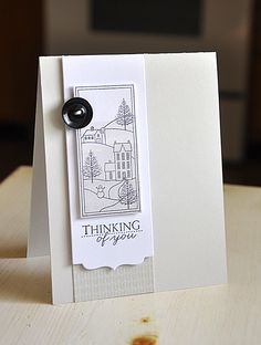 Thinking Of You Card by Maile Belles for Papertrey Ink (October 2012). Sketch for Christmas card?