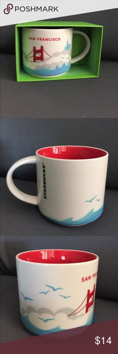 """SAN FRAN CUP Hello, I am a Starbucks cup collector and would love to own cups from all over the world. I am interested in trading cups from different states and countries I don't have. I have my collection posted so you know what I have. Also, I can sell you a San Fran cup with a gift card (NO VALUE). If you're interested in trading and I don't have the state you live in you can buy the """"you are here"""" cup and we trade 😍 I help you with your collection and you help me☕️ (I WILL NOT TRADE…"""