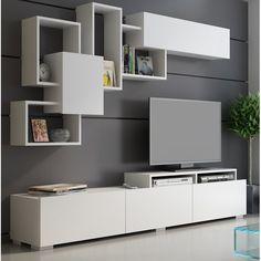 7 veces he visto estas agraciadas muebles minimalistas. Tv Unit Decor, Tv Wall Decor, Wall Tv, Living Room Tv Unit Designs, Wall Unit Designs, Bedroom Tv Unit Design, Tv Stand Designs, Tv Unit Furniture Design, Tv Wanddekor