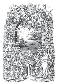 Beautiful Print Showing Mountains And An Exotic Village Through King Neptunes Gate Adult Coloring PagesColoring