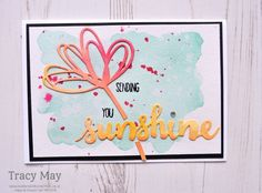 Sunshine Sayings and Sunshine Wishes Thinlits product from Stampin' Up! Tracy May