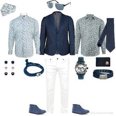 White Pants.   Blue and White | Men's Outfit | ASOS Fashion Finder