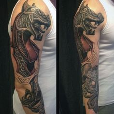 Ultimate Dragon Norse Tattoo Guys Full Sleeves