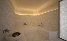 Akasha Holistic Wellbeing Centre at Café Royal Hotel in Lond Spa Interior, Bathroom Interior, Interior Design, Saunas, Wellbeing Centre, Casa Milano, London Cafe, Sauna Design, Spa Lighting
