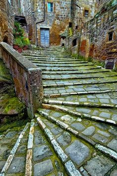 Ancient Stairs, Pitigliano, in Grosseto province, Tuscany region, Italy