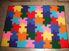 Original alfambra PUZZLE de crochet