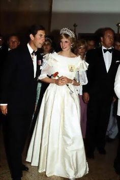 June 15, 1983: Prince Charles & Princess Diana arriving at a State Dinner hosted by Prime Minister Pierre Trudeau at the Hotel Nova Scotian in Halifax. (Day 2)
