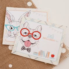 Hipster Animal Book Plates