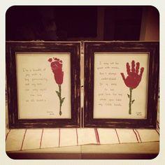 Handprint roses #MothersDay #DIY