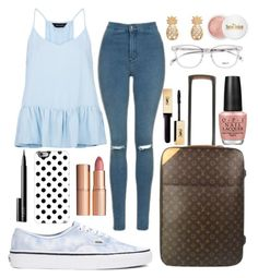 """""""Going On Vacation"""" by freedom2095 ❤ liked on Polyvore featuring New Look, Vans, Topshop, Louis Vuitton, OPI, Charlotte Tilbury, Casetify, Terre Mère and NARS Cosmetics"""