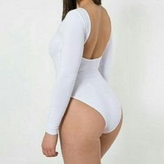 BLACK American Apparel bodysuit . size Med NEW .new never worn BLACK. Long sleeves Nwot. Cotton and spandex. American Apparel Tops Tees - Long Sleeve