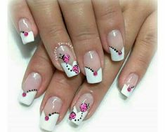 French Nail Designs, Toe Nail Designs, Acrylic Nail Designs, Beautiful Nail Art, Gorgeous Nails, Pretty Nails, Nail Manicure, Toe Nails, Spring Nail Art
