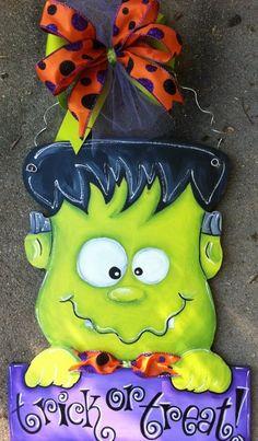 Frankenstein. Pinterest @??ss? ????? & Frankenstein | Painting: Halloween | Pinterest | Frankenstein Doors ...