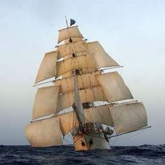 Ship with Studding Sails