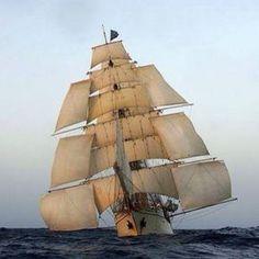 Ship with Studding Sails