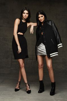 Kendall and Kylie Jenner wear party ready looks Pose for Topshop holiday 2015 collection Photoshoot