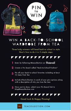 Win a back to school wardrobe from @teacollection!