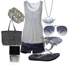 """""""silver summer"""" by lagu on Polyvore"""
