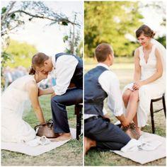 Wedding Foot Washing Ceremony #justiceofthepeace #weddingceremonies #marriagecomissioner #vancouver #langley #letsgetmarried #weddingday