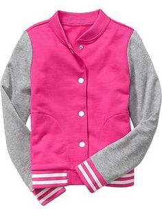 Old Navy Girls Varsity Fleece Jacket | size S Fall 2014