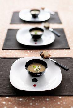 Velouté de châtaignes au foie gras  #recettefetes #luminarc #veloute #chataignes…