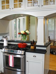 Double Sided Kitchen Cabinets pass trough kitchen with double sided cabinets. this pass-through