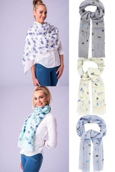 a beautiful range of scarves for cat lovers