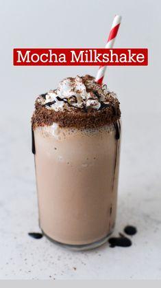Ice Cream Milkshake Recipe, Coffee Milkshake, Oreo Milkshake, Milkshake Recipes, Ice Cream Drinks, Milkshakes, Coffee Smoothie Recipes, Coffee Recipes, Nespresso Recipes