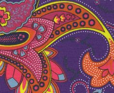 Fabric Finders, Inc. Print #1131 Purple Paisley