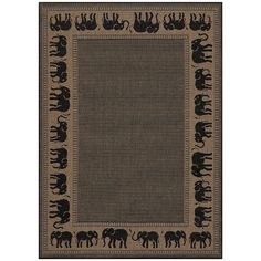"Couristan Recife Black/Beige Novelty Rug Rug Size: Runner 2'3"" x 7'10"""