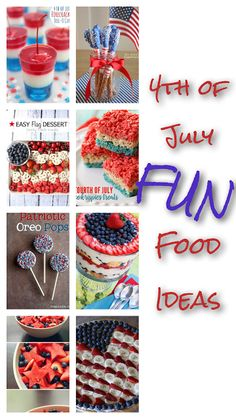 Ashes and Lace: 4th Of July Food Ideas