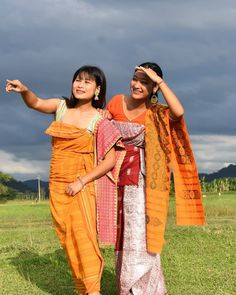 Northeast India, Two Ladies, Bodo, Traditional Dresses, Sari, Street Style, Culture, Indian, Nepal