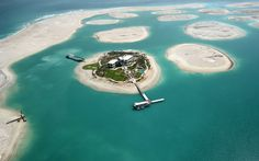 Aerial View of World Islands, Dubai