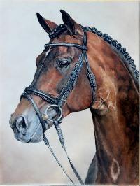 Oil on Porcelain Horse Portraits by Clark & Richard Moss