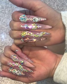 111 beautiful acrylic nails coffin design ideas for any women page 21 Rhinestone Nails, Bling Nails, Stiletto Nails, Coffin Nails, Fabulous Nails, Gorgeous Nails, Pretty Nails, Dope Nails, My Nails