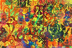 Psychedelic Art paintings , design, view, use, post, painting, graphic page 1960s inspired