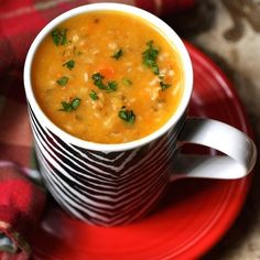 Roasted Vegetable Soup with Bulgar - Caramelizing root vegetables by roasting in the oven brings out their natural sweetness, while the bulgar (a form of whole wheat) adds a nutty, slightly chewy texture. #roastedvegetablesoup #souprecipes