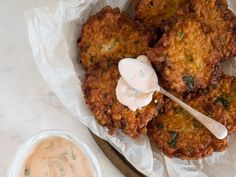 Chickpea Fritters with Spicy Aioli